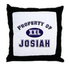 Property of josiah Throw Pillow
