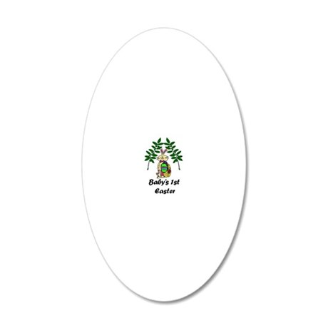 Babys1stEaster_png 20x12 Oval Wall Decal