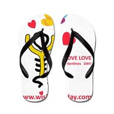 Love@WishboneDay Flip Flops