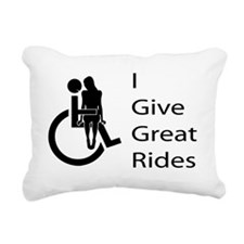 i-give-great-rides2 Rectangular Canvas Pillow
