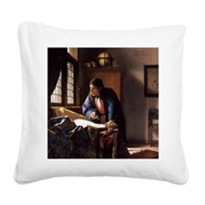 The Geographer Square Canvas Pillow