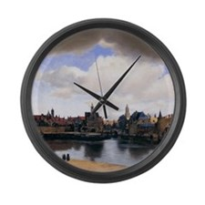 View of Delft Large Wall Clock