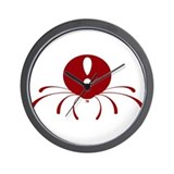 Red Logo Wall Clock