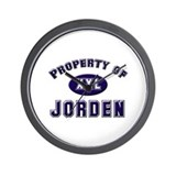 Property of jorden Wall Clock