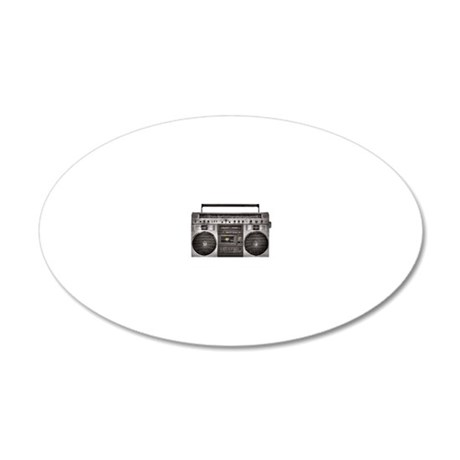 Boombox 20x12 Oval Wall Decal