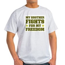 My Brother Fights For Freedom Ash Grey T-Shirt