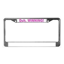 winning_pink License Plate Frame