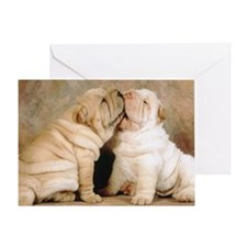 shar pei L print Greeting Card