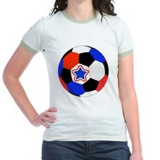United States Soccer Red, White T