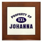 Property of johanna Framed Tile