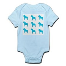 Swedish Dala Horse Infant Bodysuit