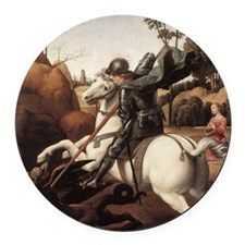 St George and the Dragon Round Car Magnet