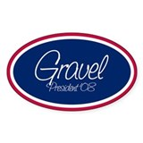 MIKE GRAVEL PRESIDENT '08 Oval Decal