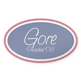 AL GORE PRESIDENT '08 Oval Decal