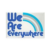 We Are Everywhere Transgender Rectangle Magnet