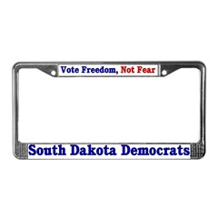 South Dakota Democrat License Plate Frame