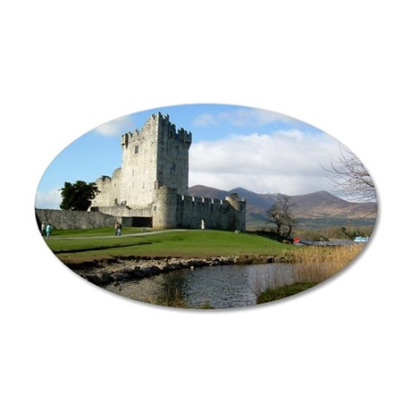 ross castle 35x21 Oval Wall Decal