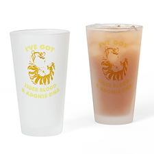 Tiger Blood- DESIGN DISTRESS Drinking Glass