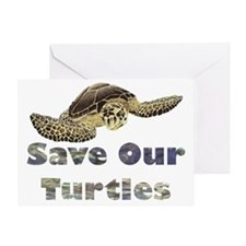 save-our-turtles Greeting Card