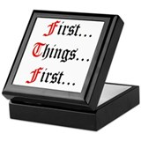 First Things First Keepsake Box
