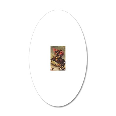 Jacques-Louis_David_Napoleon 20x12 Oval Wall Decal