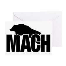 MachStickerAussie Greeting Card