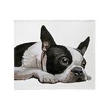 Boston terrier Fleece Blankets