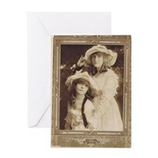 Lillian and Dorothy Gish 1917 Greeting Card