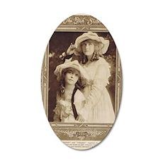 Lillian and Dorothy Gish 191 35x21 Oval Wall Decal