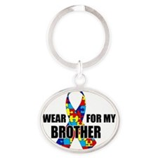 brother Oval Keychain