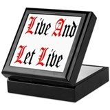 Live And Let Live Keepsake Box