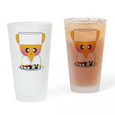 sushi chef cat2 Drinking Glass