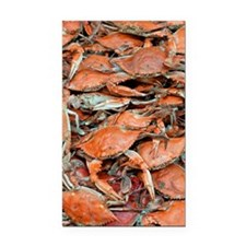 snow crabs wide Rectangle Car Magnet