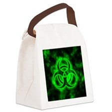 glowingBiohazardGreen Canvas Lunch Bag
