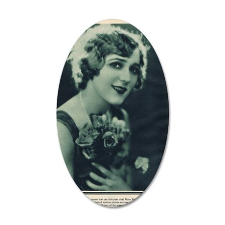 Mary Pickford 1928 35x21 Oval Wall Decal