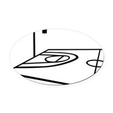 basketball_field_half Oval Car Magnet