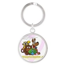 folps birthday Round Keychain