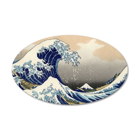 great-wave.shirt 35x21 Oval Wall Decal