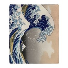 great-wave.p3 Throw Blanket