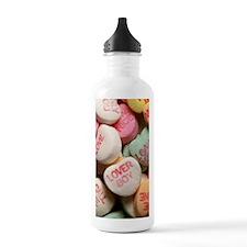 Valentine Candy Hearts Water Bottle