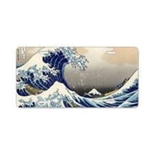 great-wave.mug Aluminum License Plate