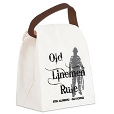 old linemen rule 2 Canvas Lunch Bag