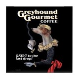 Greyhound Gourmet-maiden Tile Coaster
