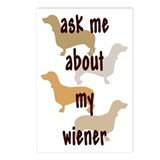 Ask Me About My Wiener Postcards (Package of 8)