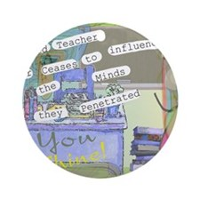 Retired Teacher ART 1 Round Ornament