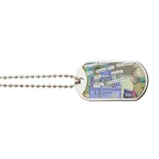 Retired Teacher ART 1 Dog Tags