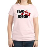 Fear Nobody Women's Pink T-Shirt