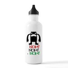 man_face_vector Sports Water Bottle