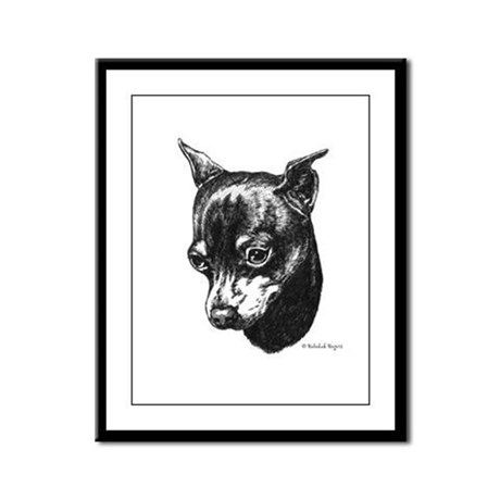 Min Pin Framed Panel Print