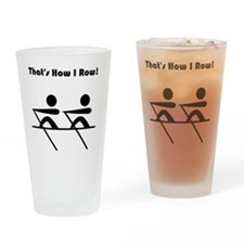 How I Row Black Drinking Glass